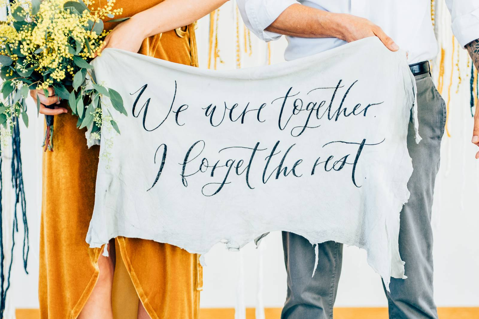 fabric banner quote