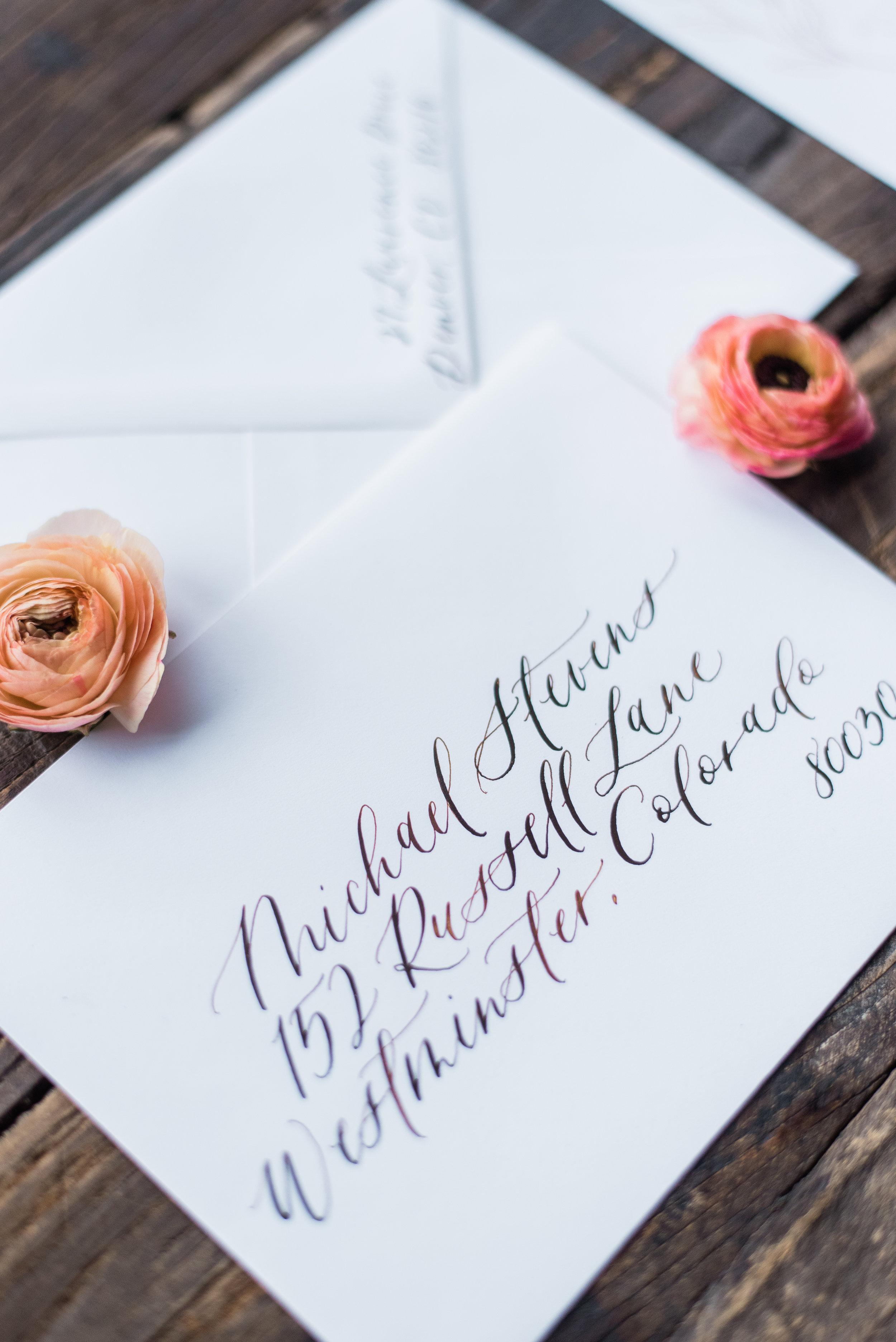 envelope calligraphy addressing