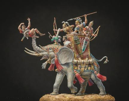 Carthaginian War Elephant Greg DiFranco Painters Gold 2012 MMSI Best of Show