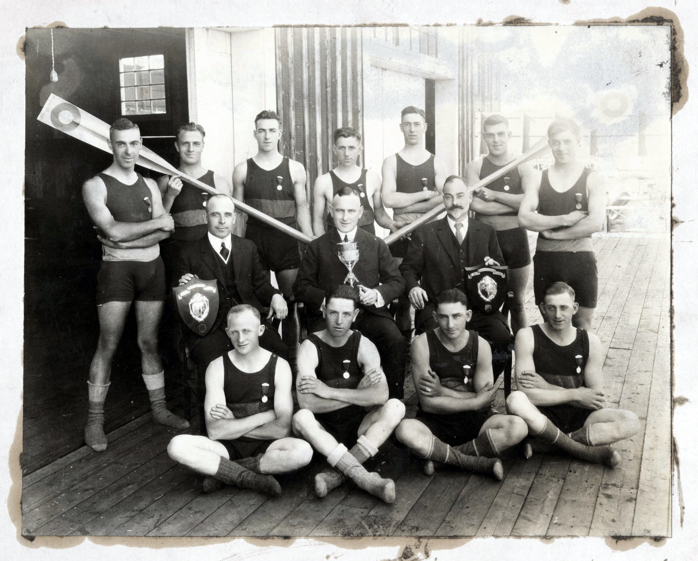 Before the Halifax Explosion obliterated the 'Lorne Club' at the bottom of North St, its rowing crew ownedHarbour waves like a boss circa1890s
