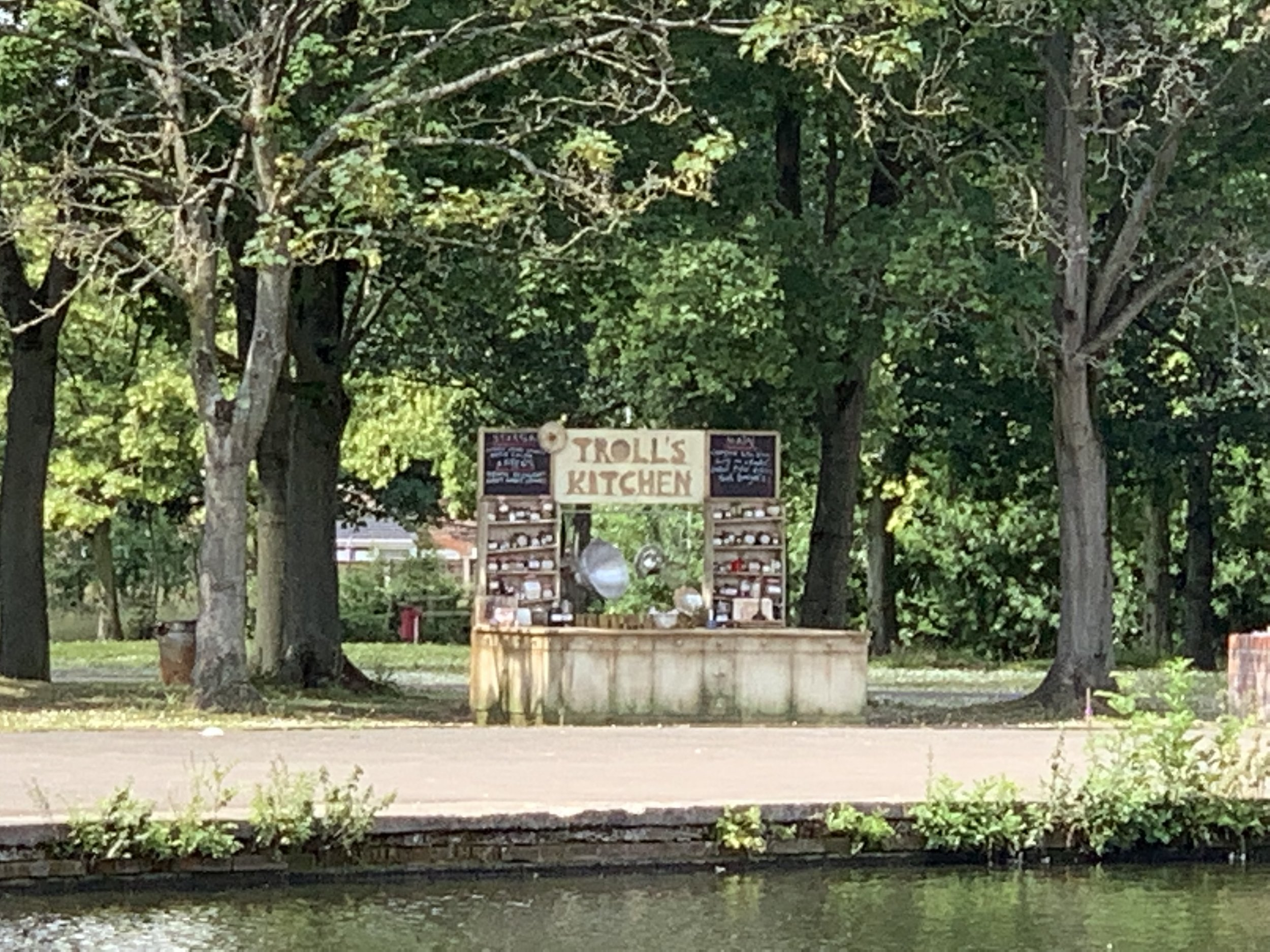 The Troll's Kitchen in situ at Platt Fields Park in Manchester for Picnic in the Park, July 7th 2019