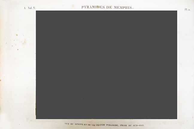 Frame for Diorama – text of Plate 11 from A. Vol. V of the Déscription de l'Égypte.