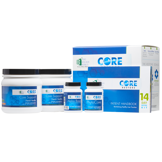 Products - You receive a 7-Day Orthomolecular Core Restore Detox Kit to follow a daily regimen - personalized by your Health Coach. For further details on diet restrictions and supplement information, click below.