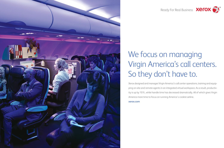 Xerox Virgin, Advertising