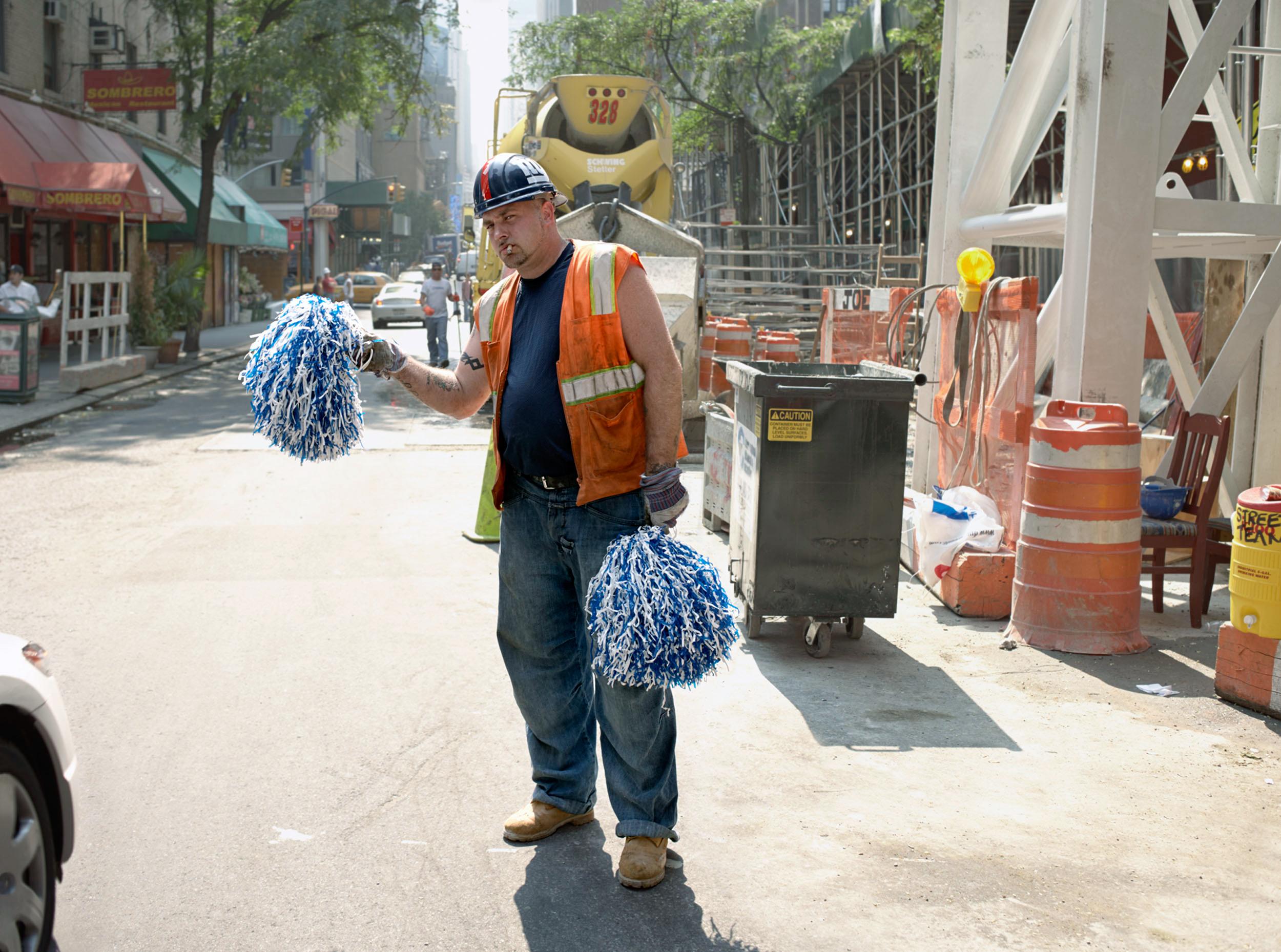 Construction Site Cheerleader