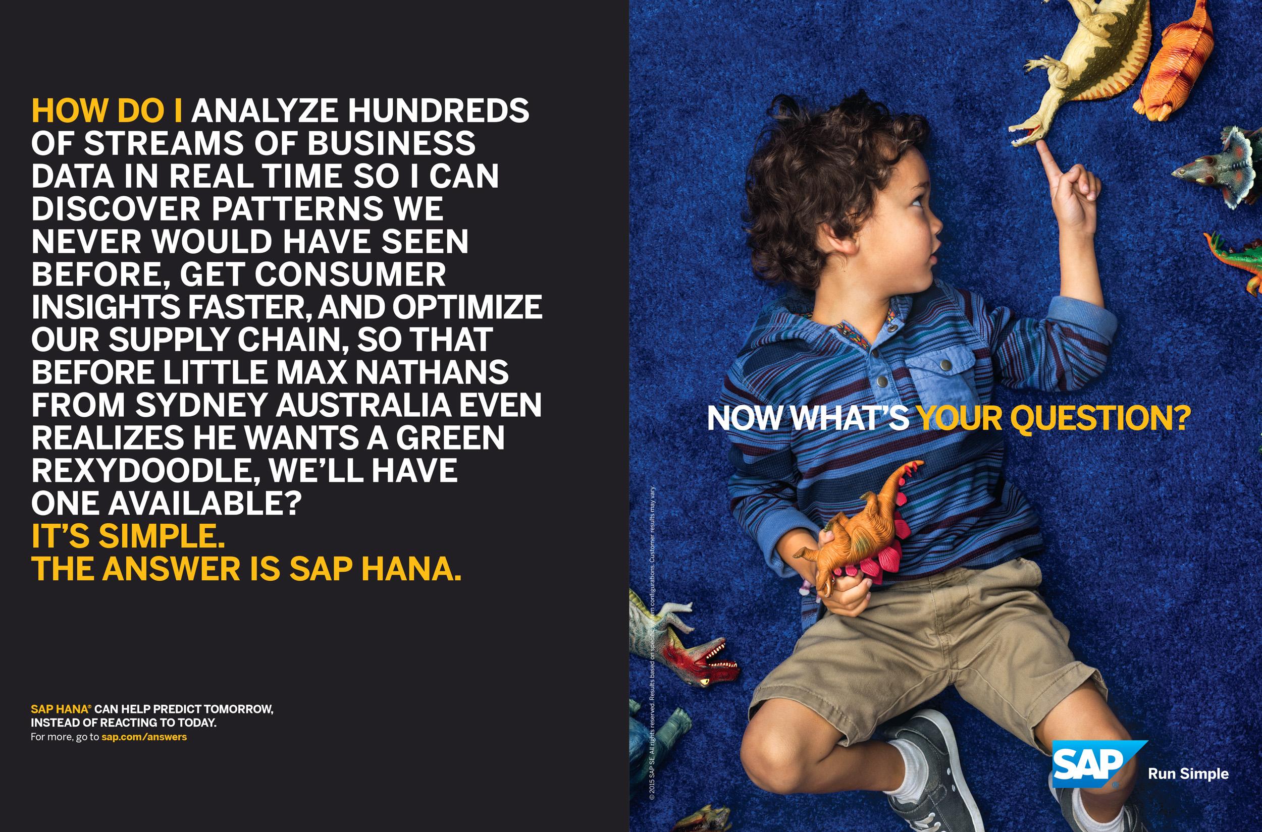 SAP Hana, Advertising
