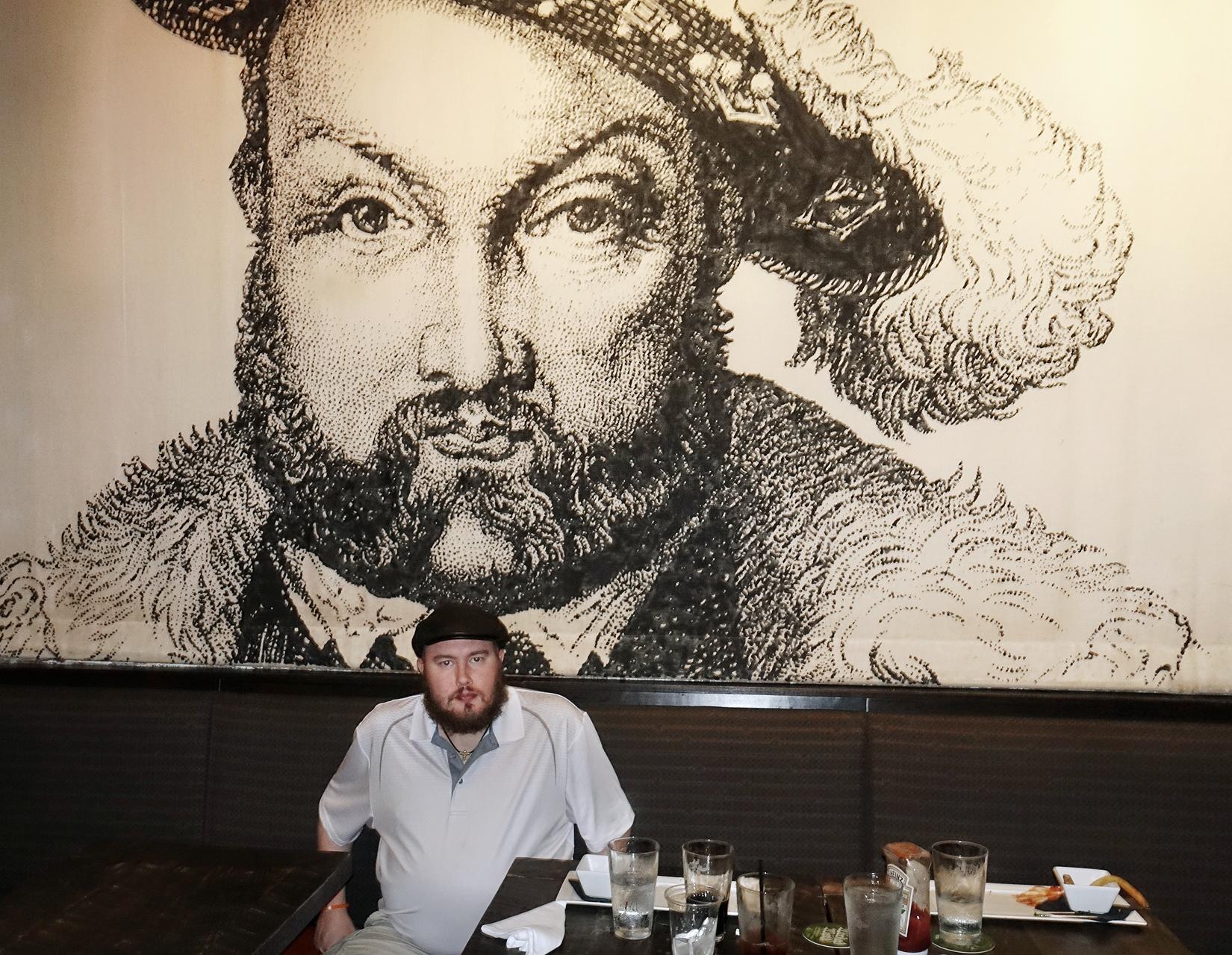Henry VIII look-alike, Asheville, NC