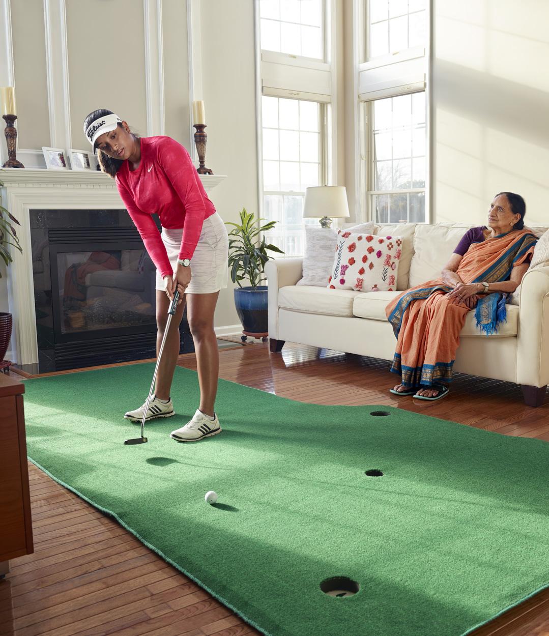 Megha Ganna, golf prodigy, Conceptual