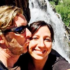 S and K kissing in front of the falls.jpg