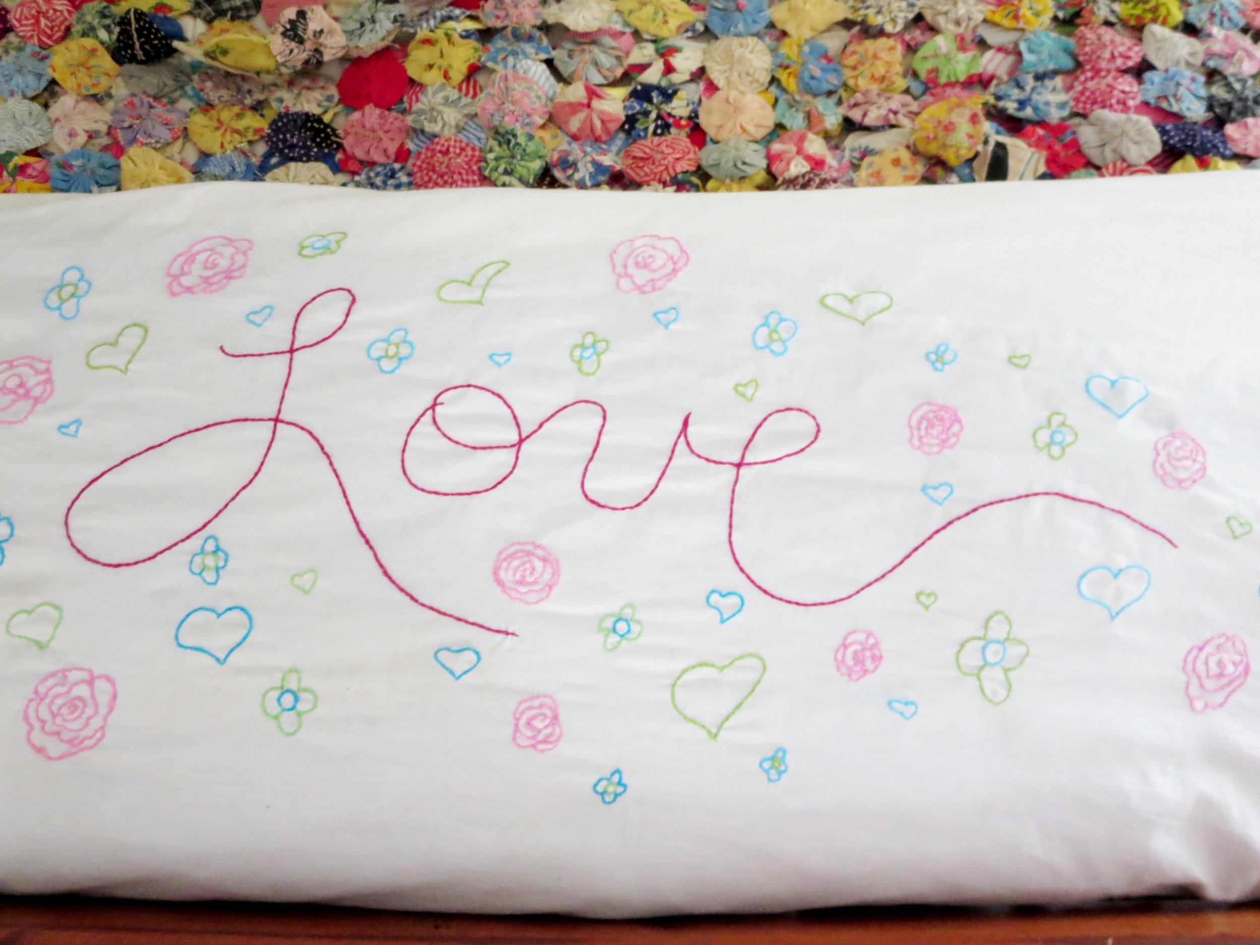 Embroidery Tutorial for writing love notes
