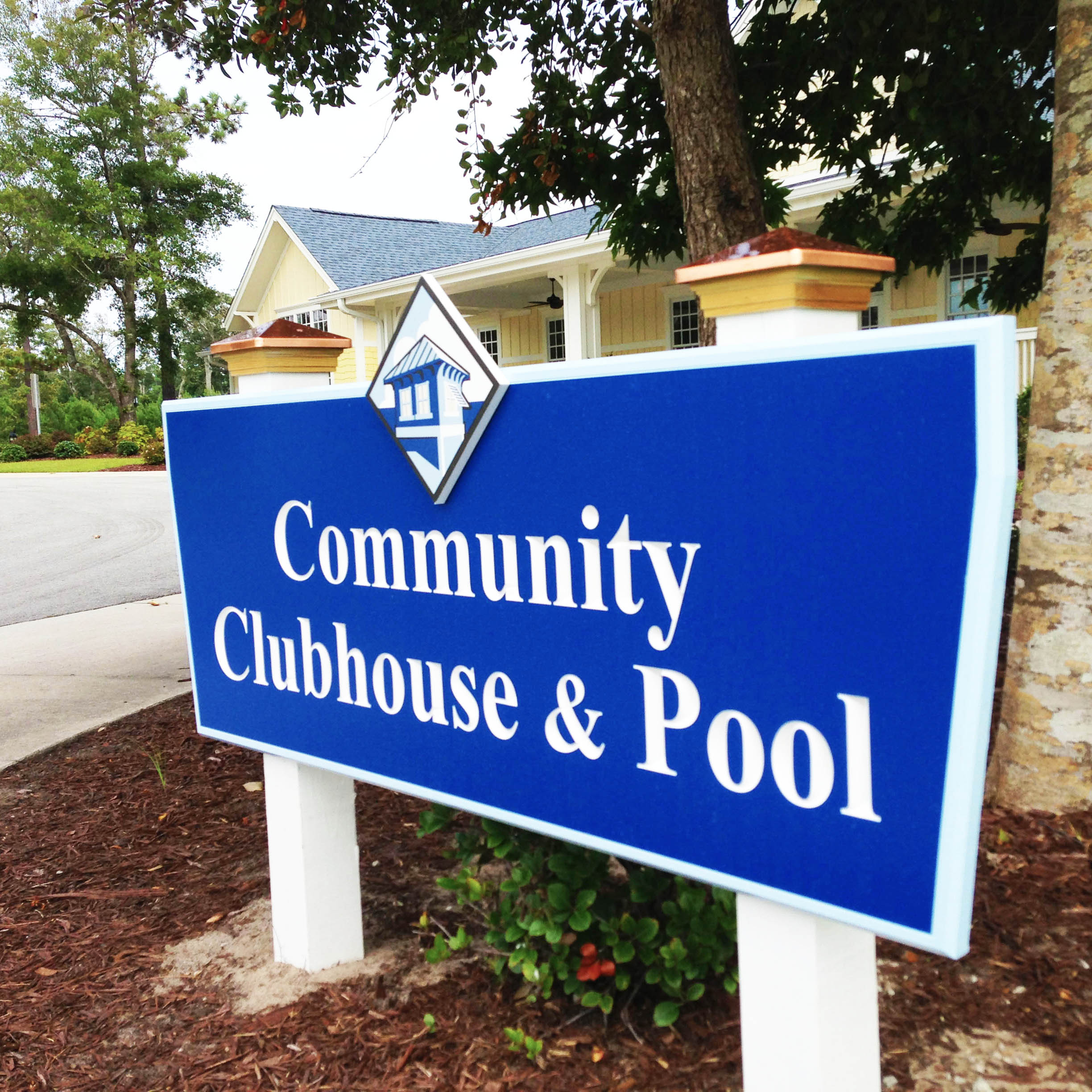 Community Signage design for Bogue Watch residential community.