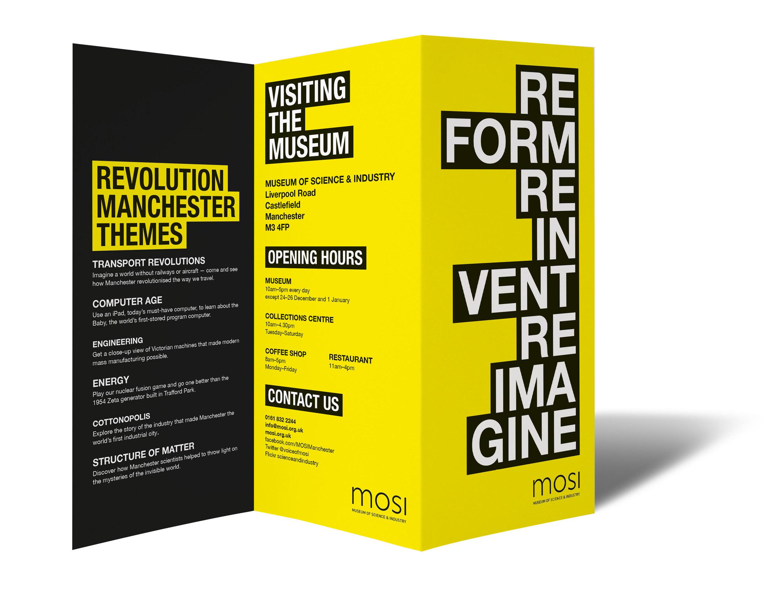 museum exhibition brochure 3D view