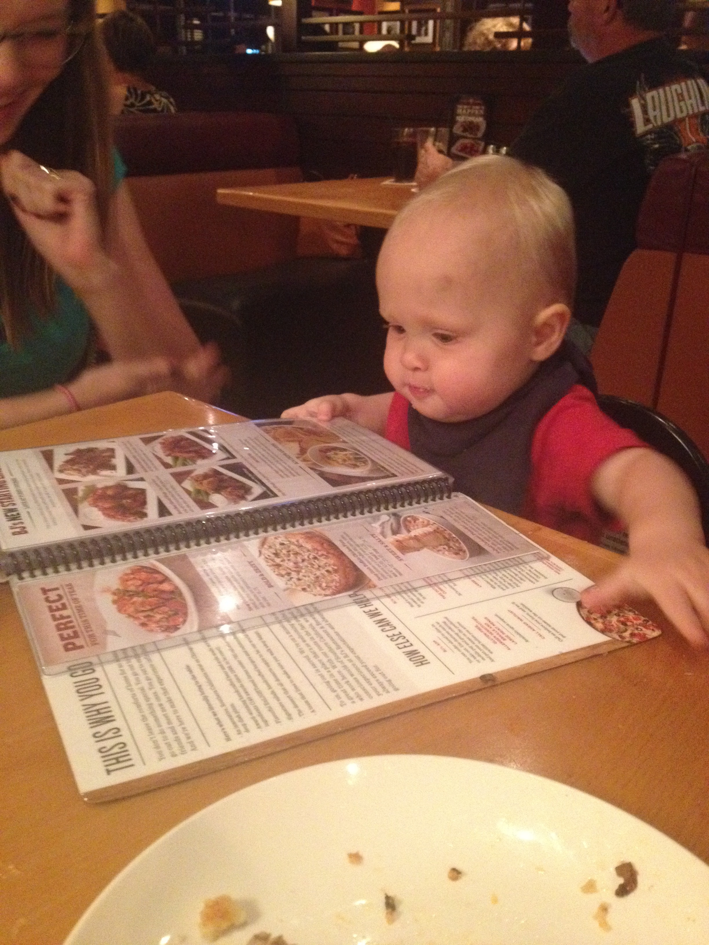 henry pondering what to order