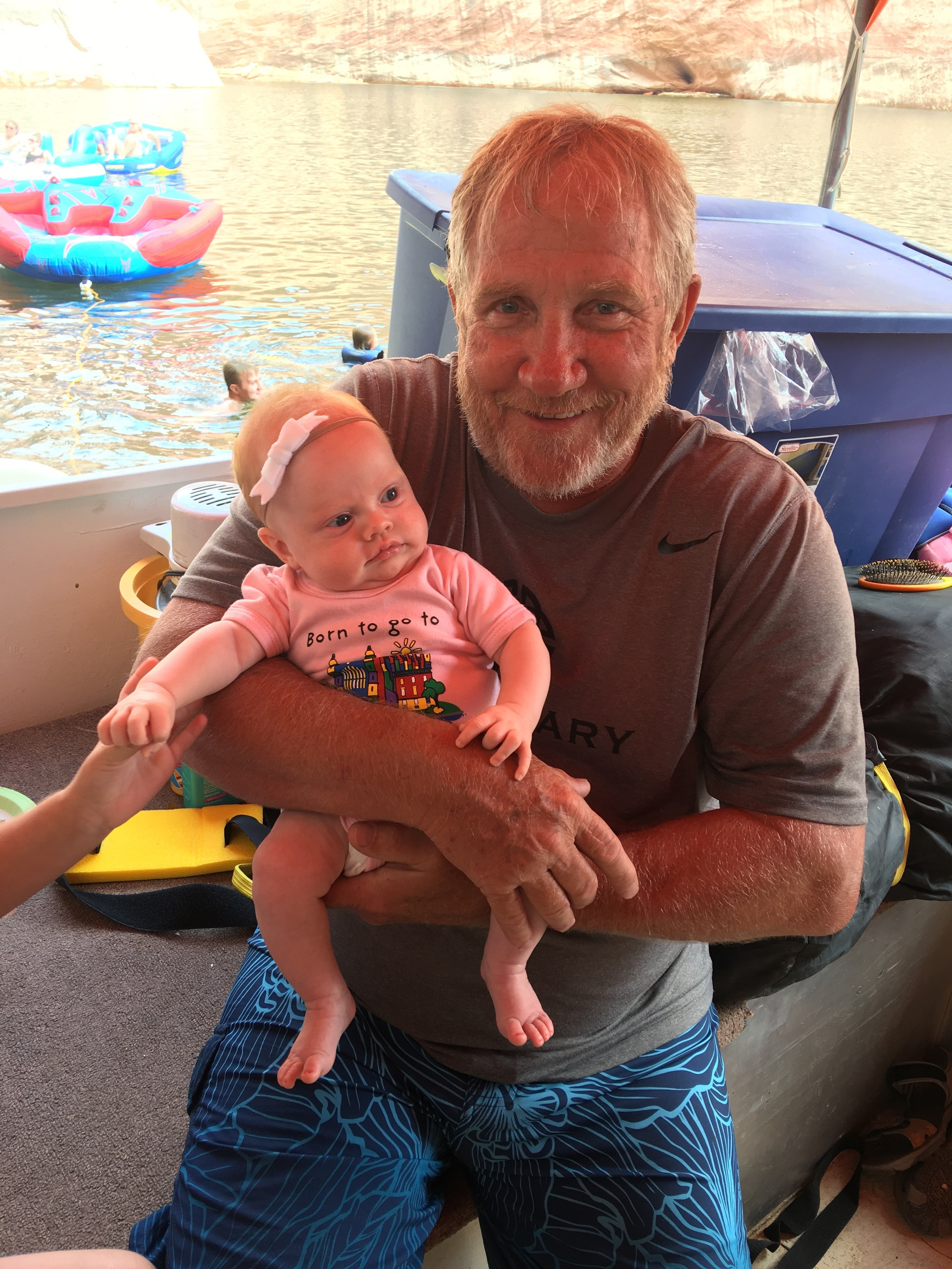 Rose with her Grandpa McCarty!