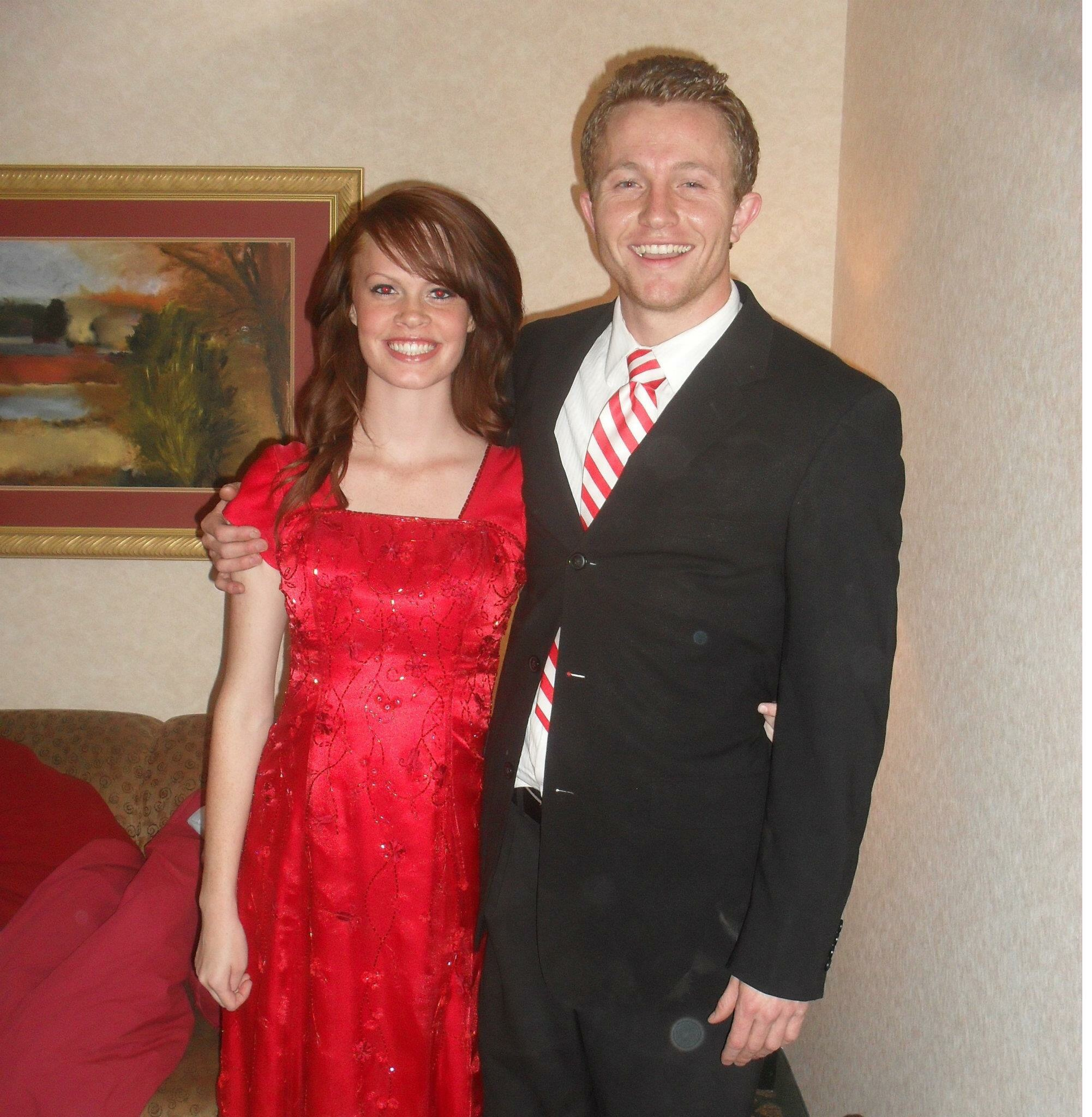 """For our 6 month anniversary Kyler took me to """"Prom"""" :)"""