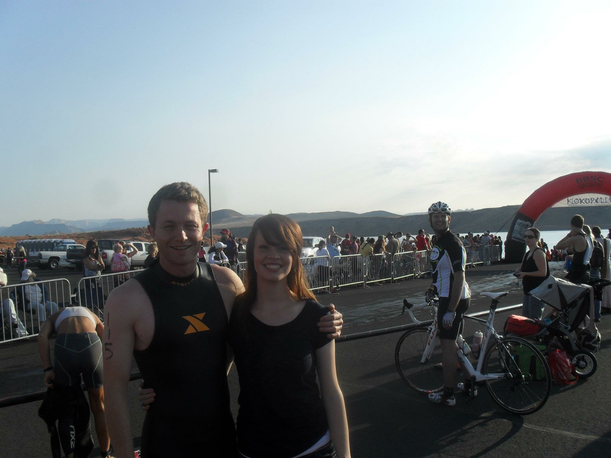 After one of his triathlons