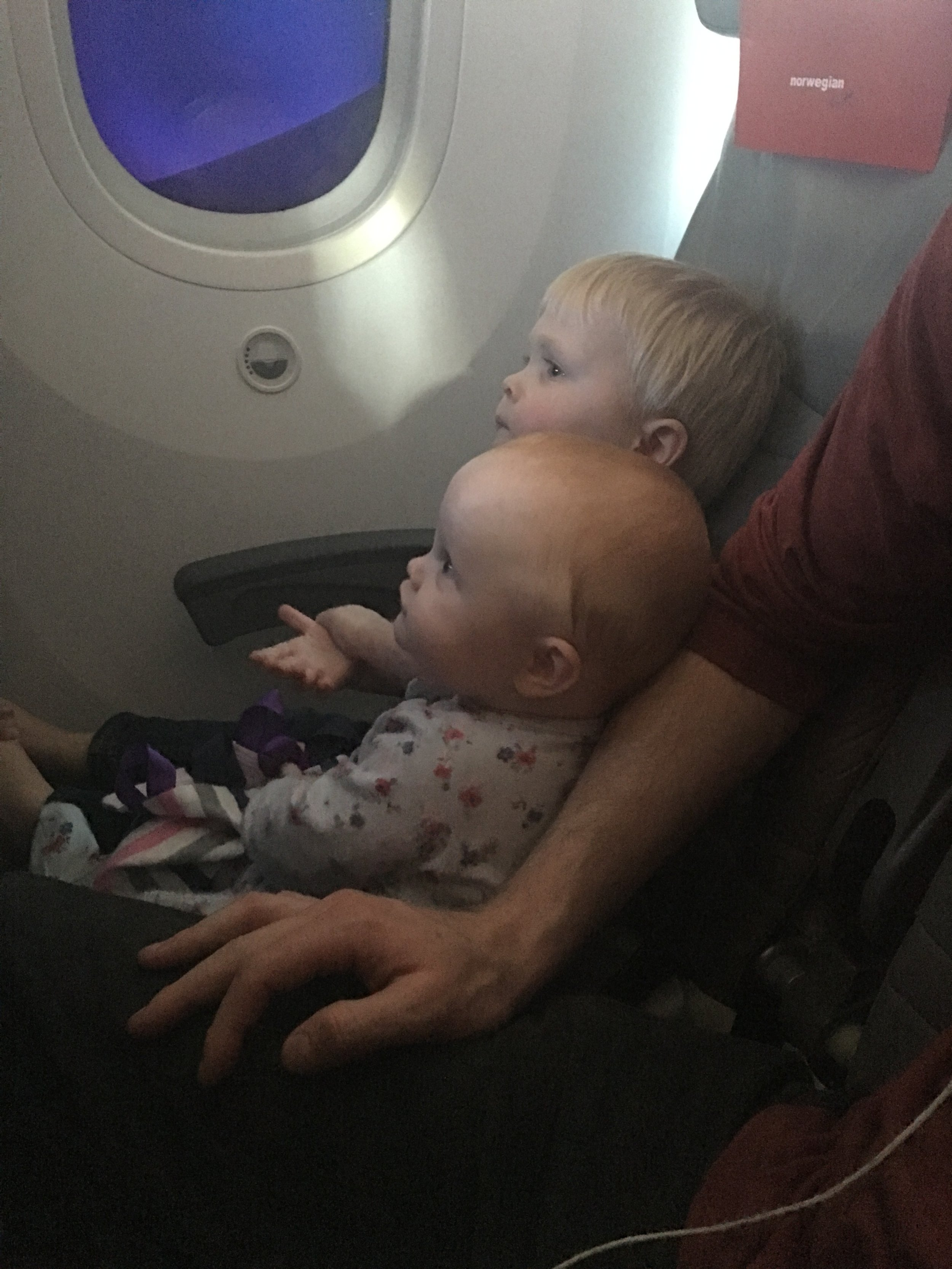 Best friends on the plane