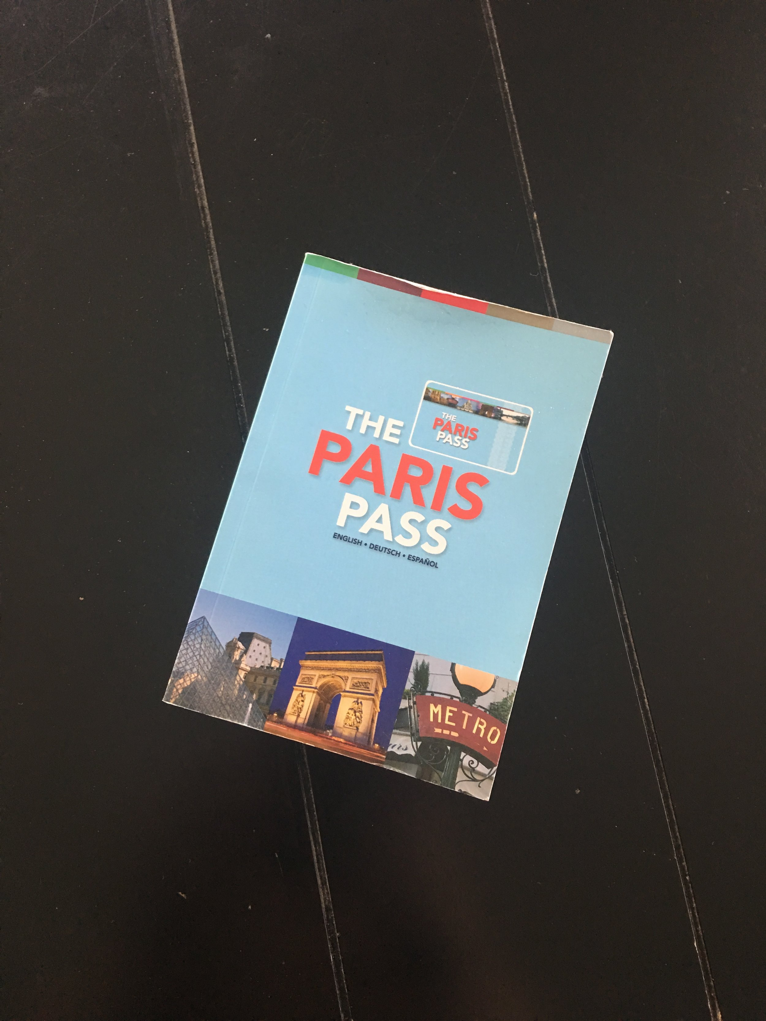 This little book came with it as well, and it had information on each site listed with the Paris Pass which was super helpful!