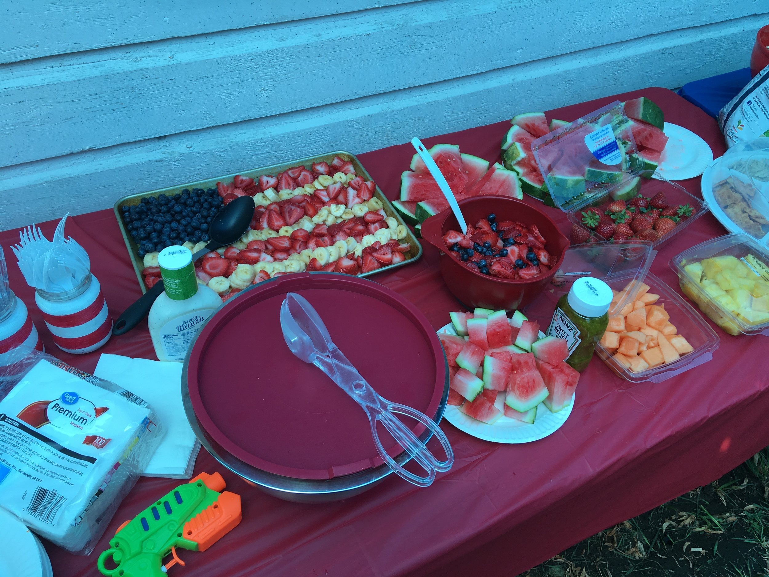 Our patriotic spread at the BBQ :)