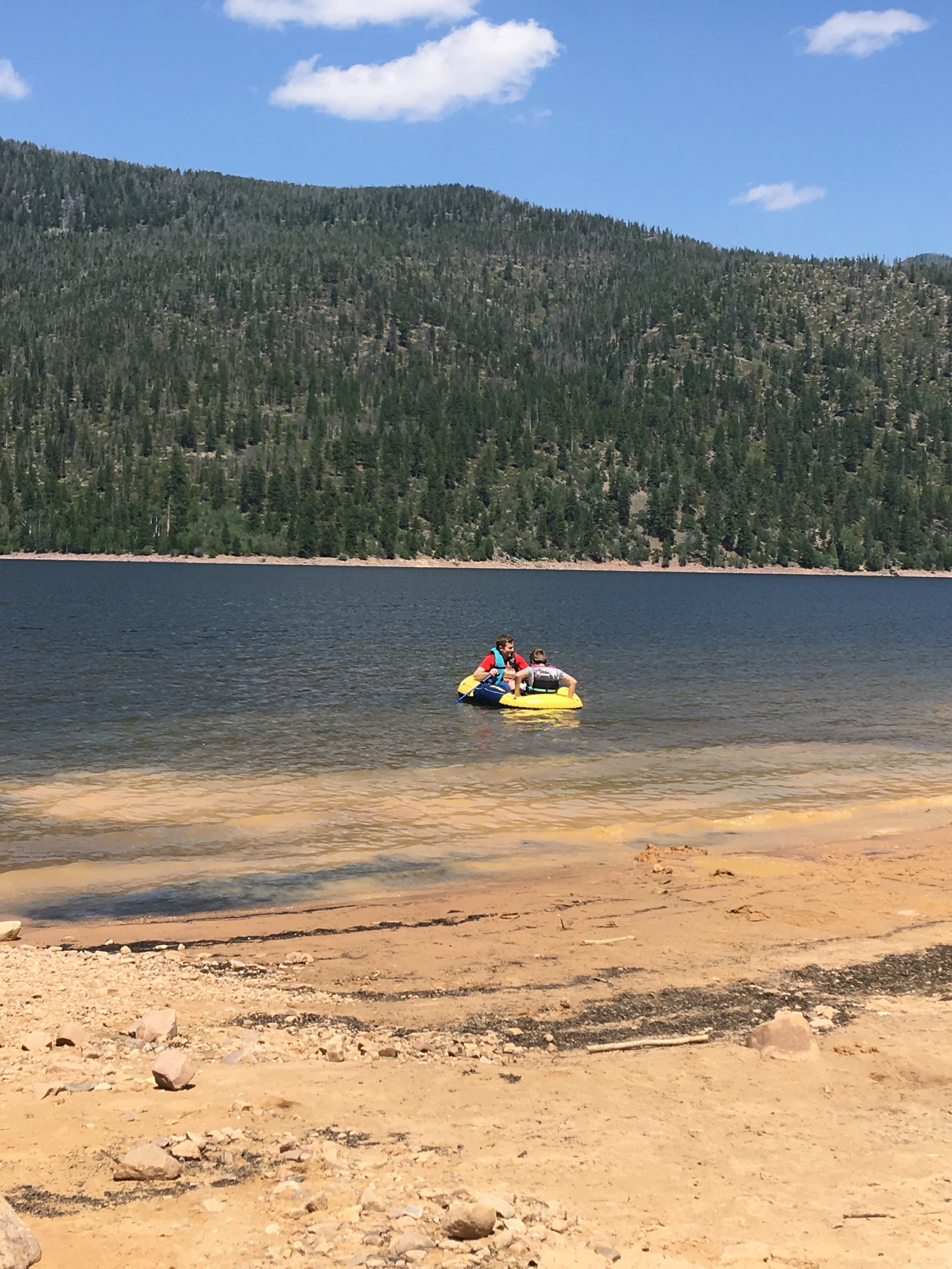 Taking out the raft - Hank wanted out after 30 seconds