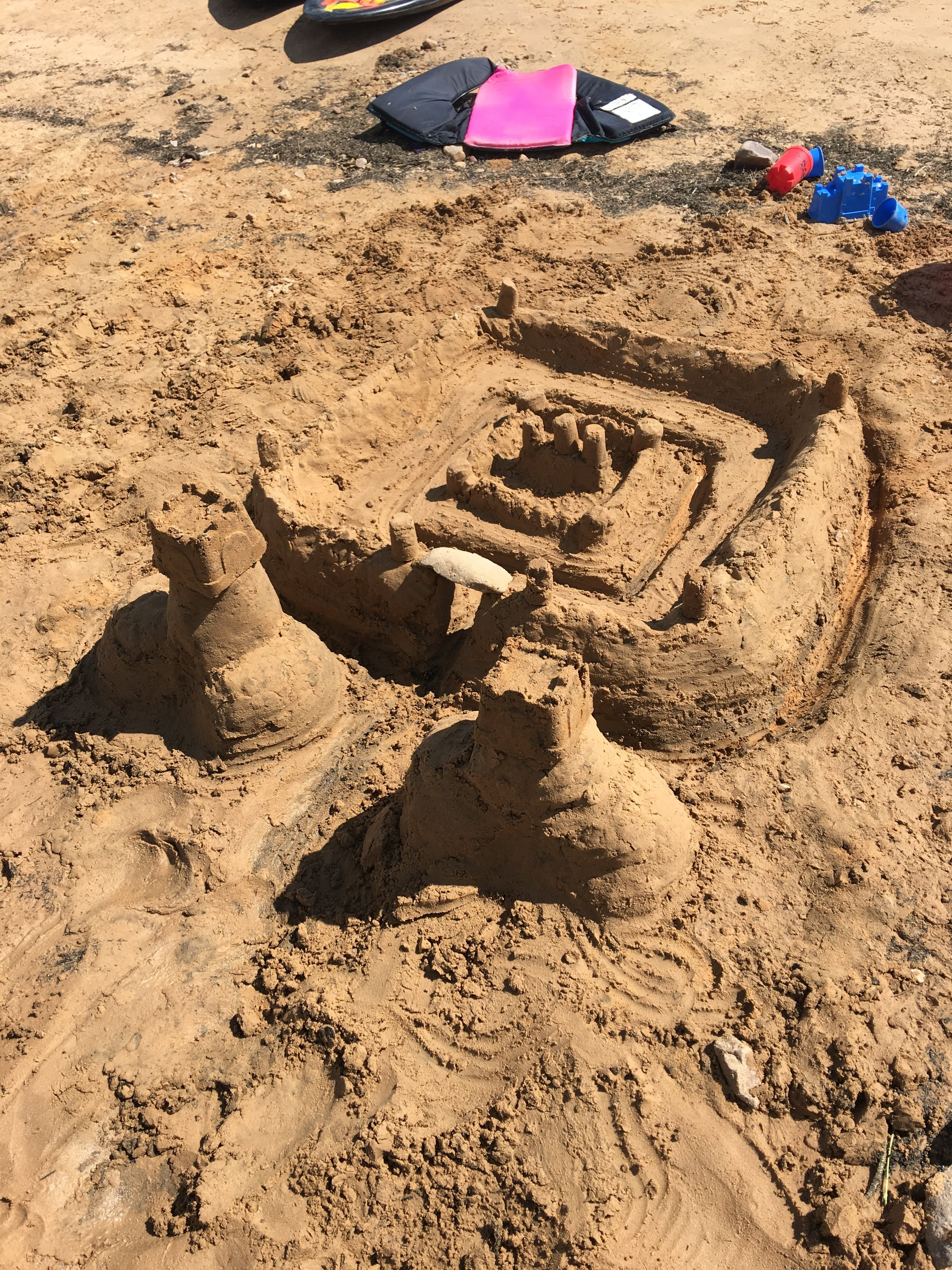 Kyler and I were quite proud of our large sand castle :)