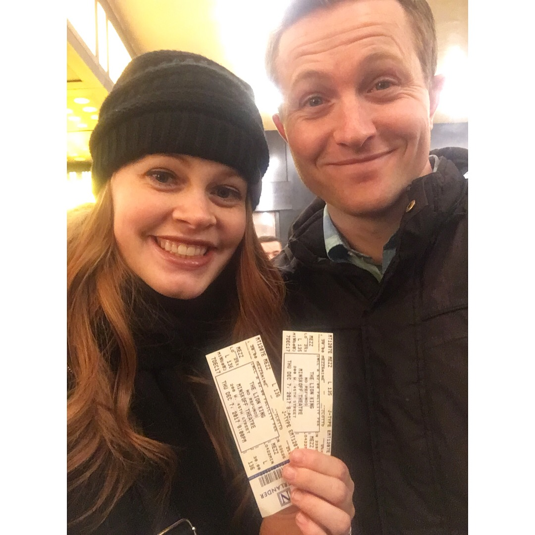 Lion King tickets thanks to Broadway Lottery!