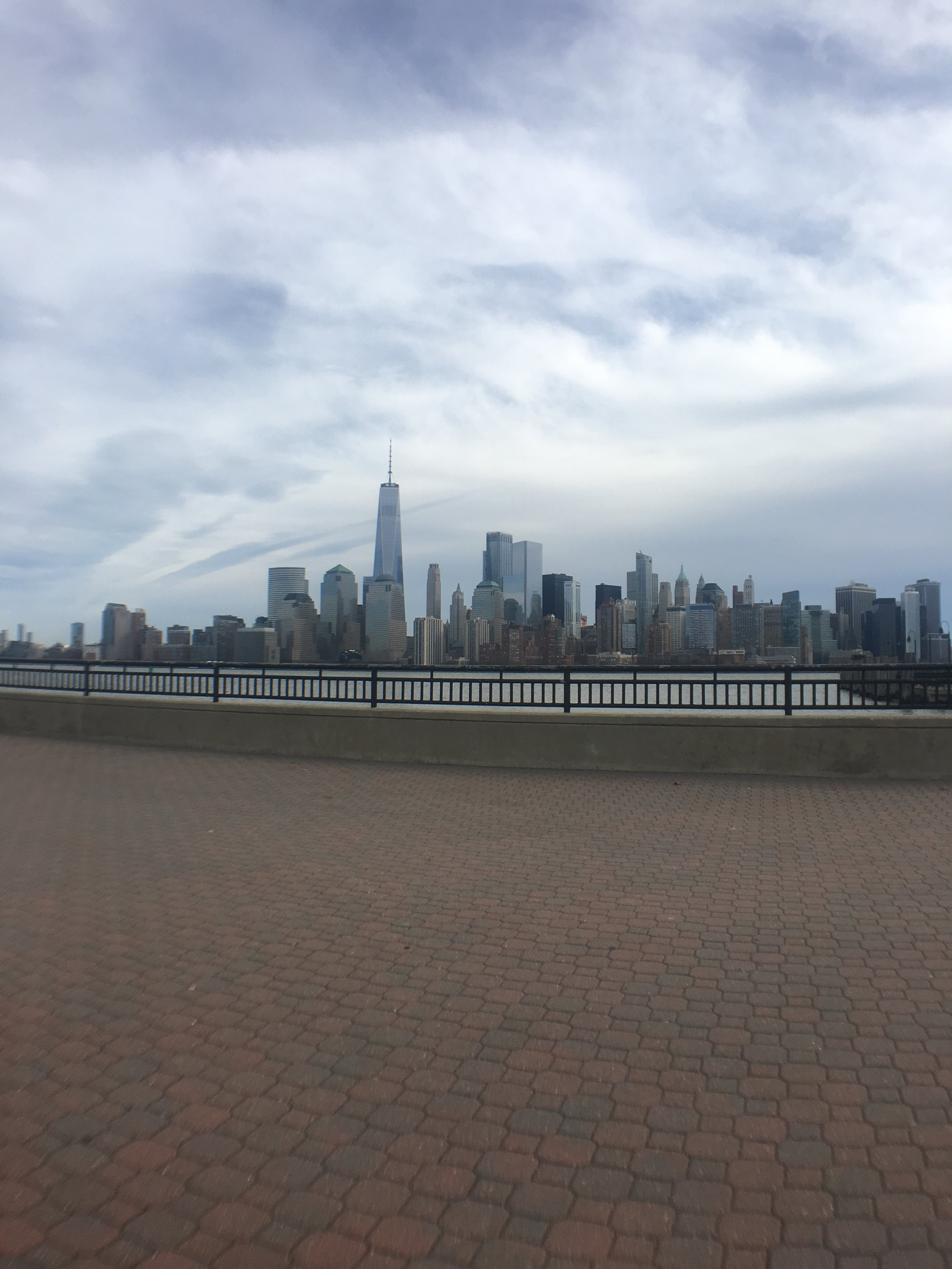 So many places to view the beautiful sky line view of Manhattan. This picture is taken at Liberty State Park in Jersey City. We got here by taking a Lyft!
