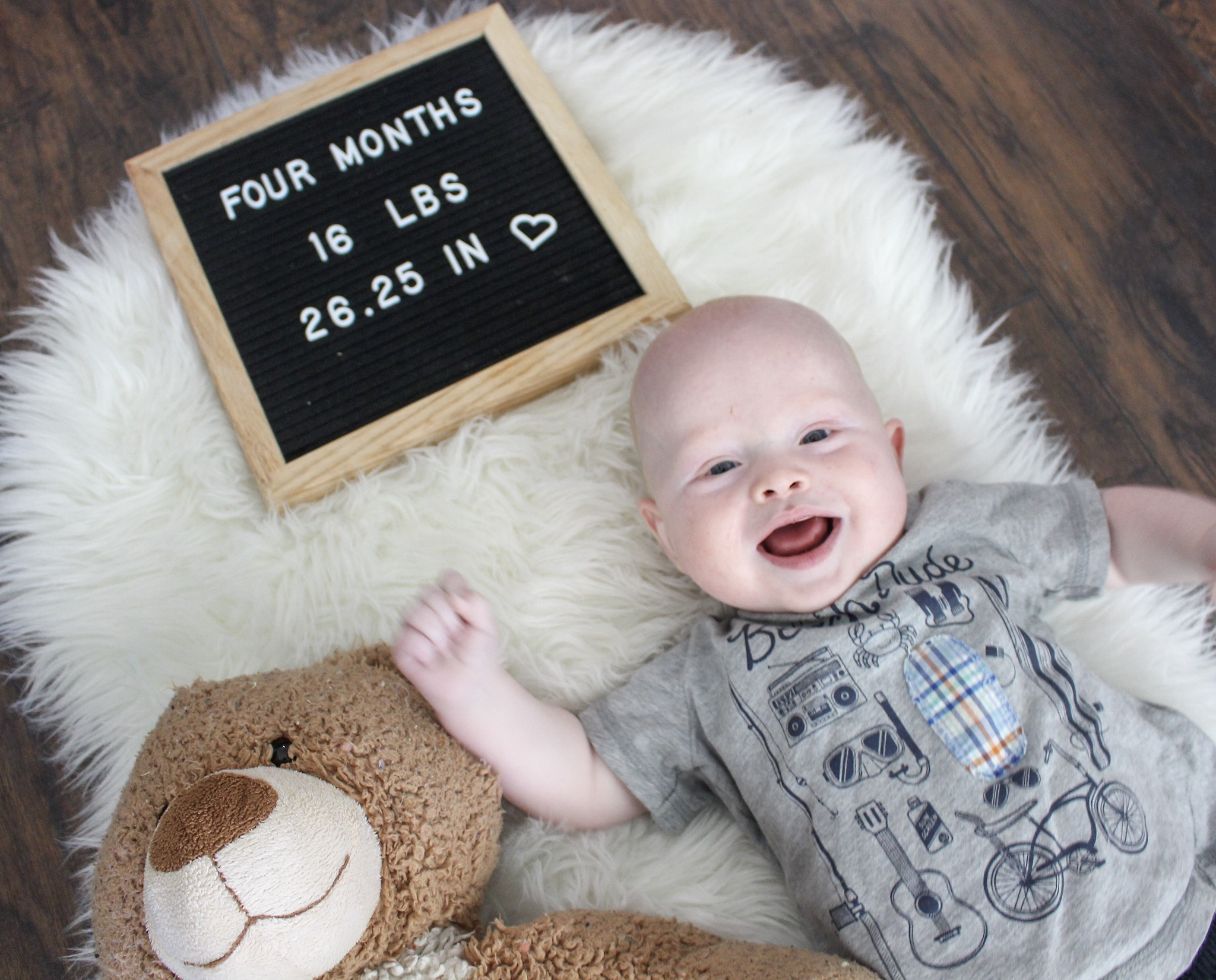 He's still super spitty ha ha I just keep reminding myself that one day it will end!  He has started giggling and laughing and it's so precious! Babies are just too cute!
