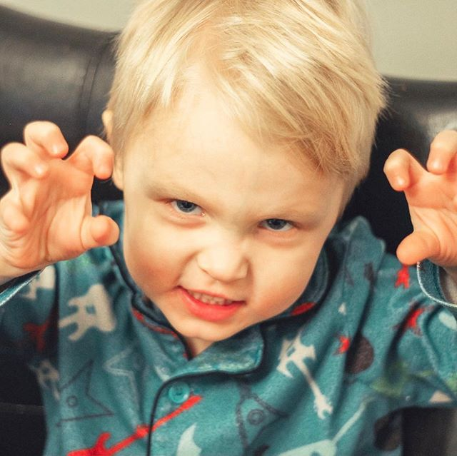 One of the only ways to get this kid to let me take a picture of him lately is if I let him be a dinosaur 🦖🦕 so here you go Instagram- Dinosaur Hank comin' at ya! Also I'm really happy that there are dinosaur emojis now! Ha ha it's one of those little things in life that just bring the heart true joy 😂 . . . . . #henrythedinosaur #dinoboy #rawr