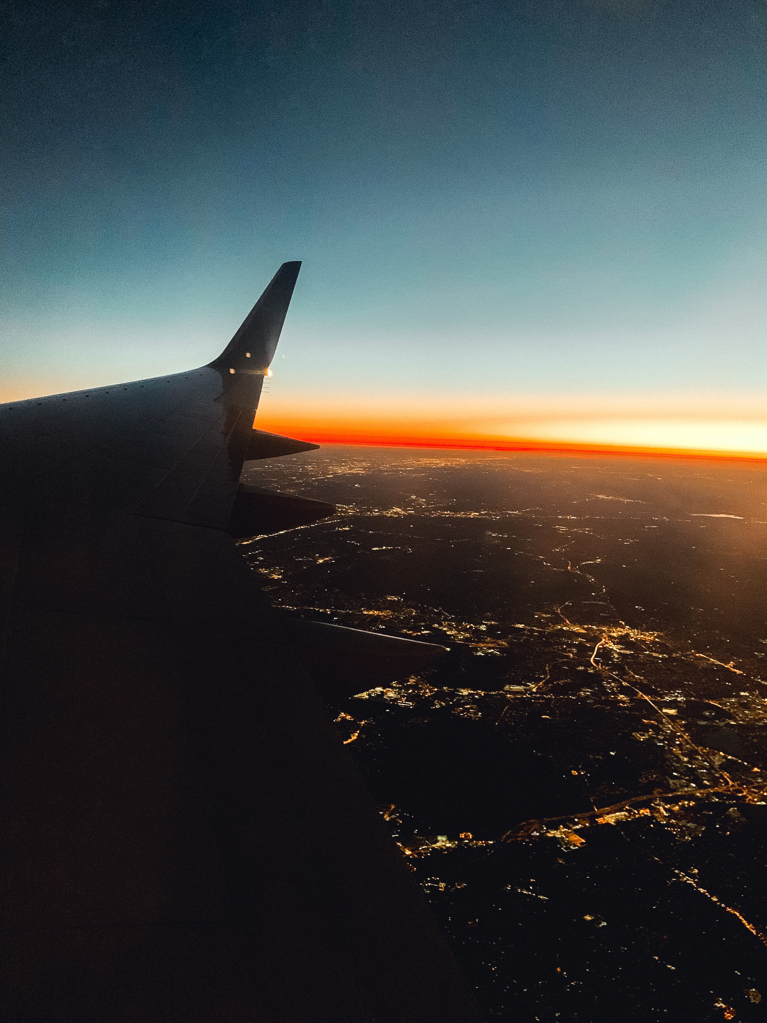 The world looked like it was on fire when we were landing in NY!