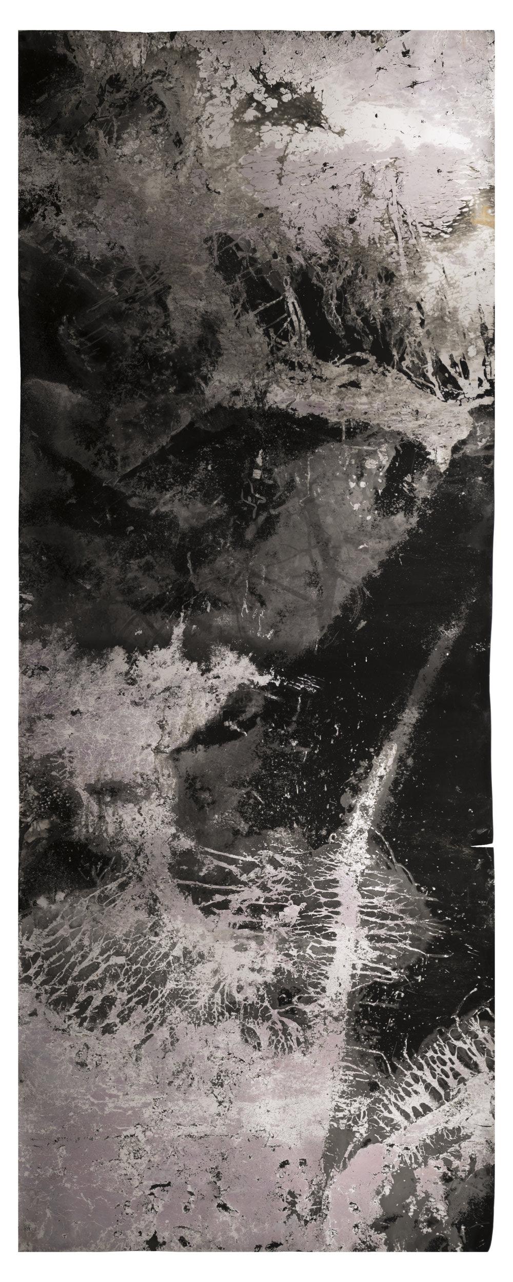 Ice Moon II , 2018, 9.33 feet x 3.5 feet, Silver Gelatin Print