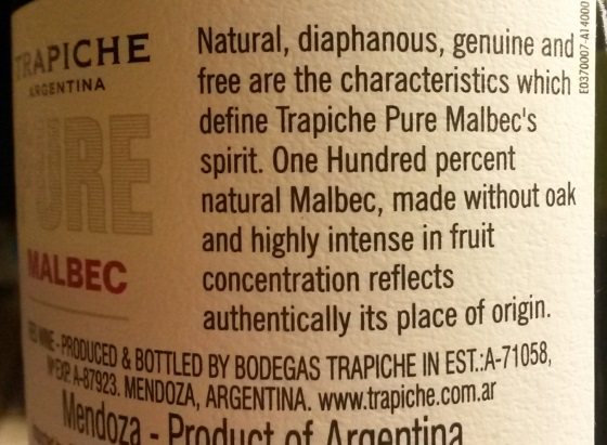In just two sentences, this Malbec manages to be something for everyone