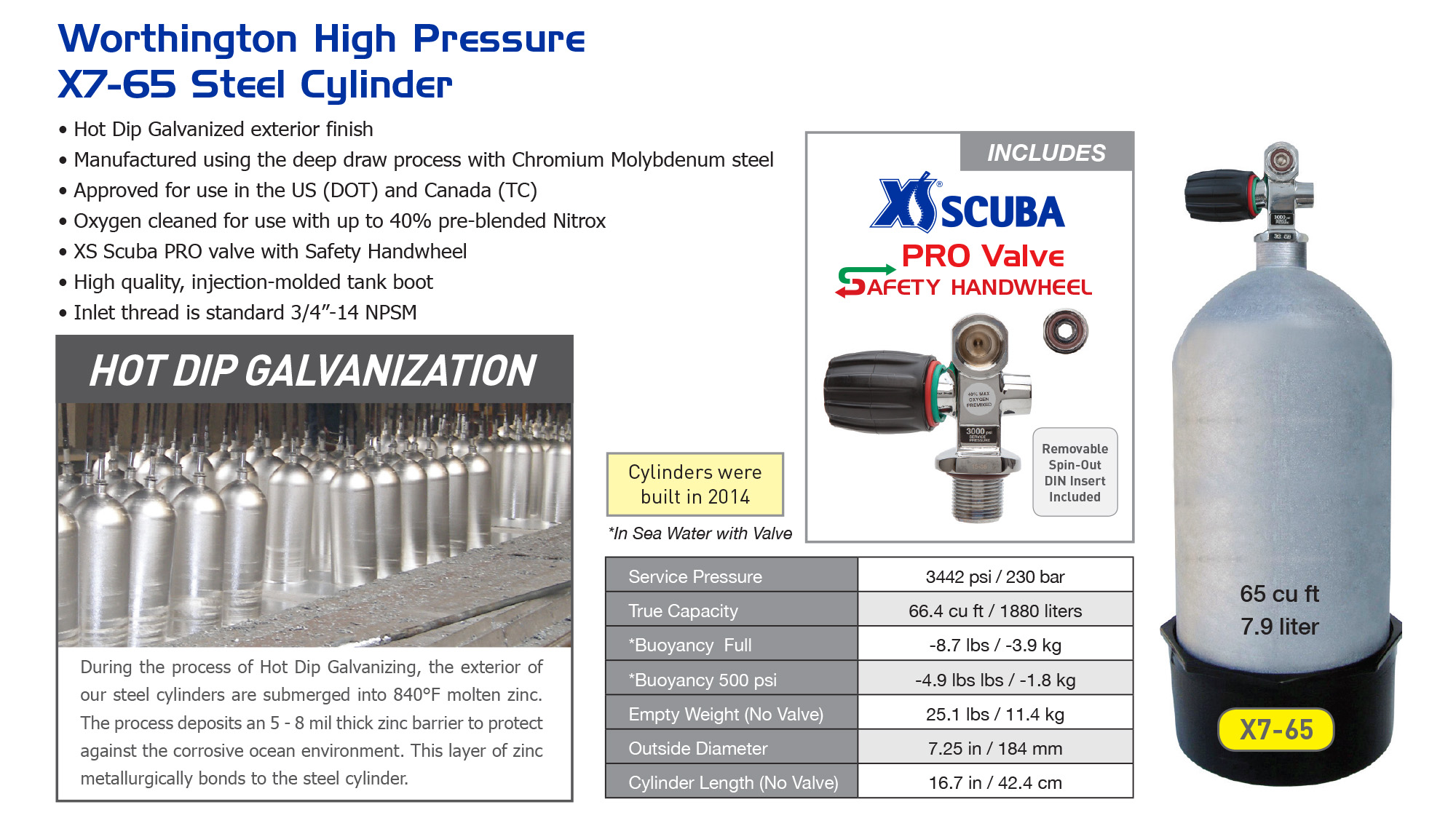 Worthington High Pressure X7 Steel Cylinder — XS Scuba