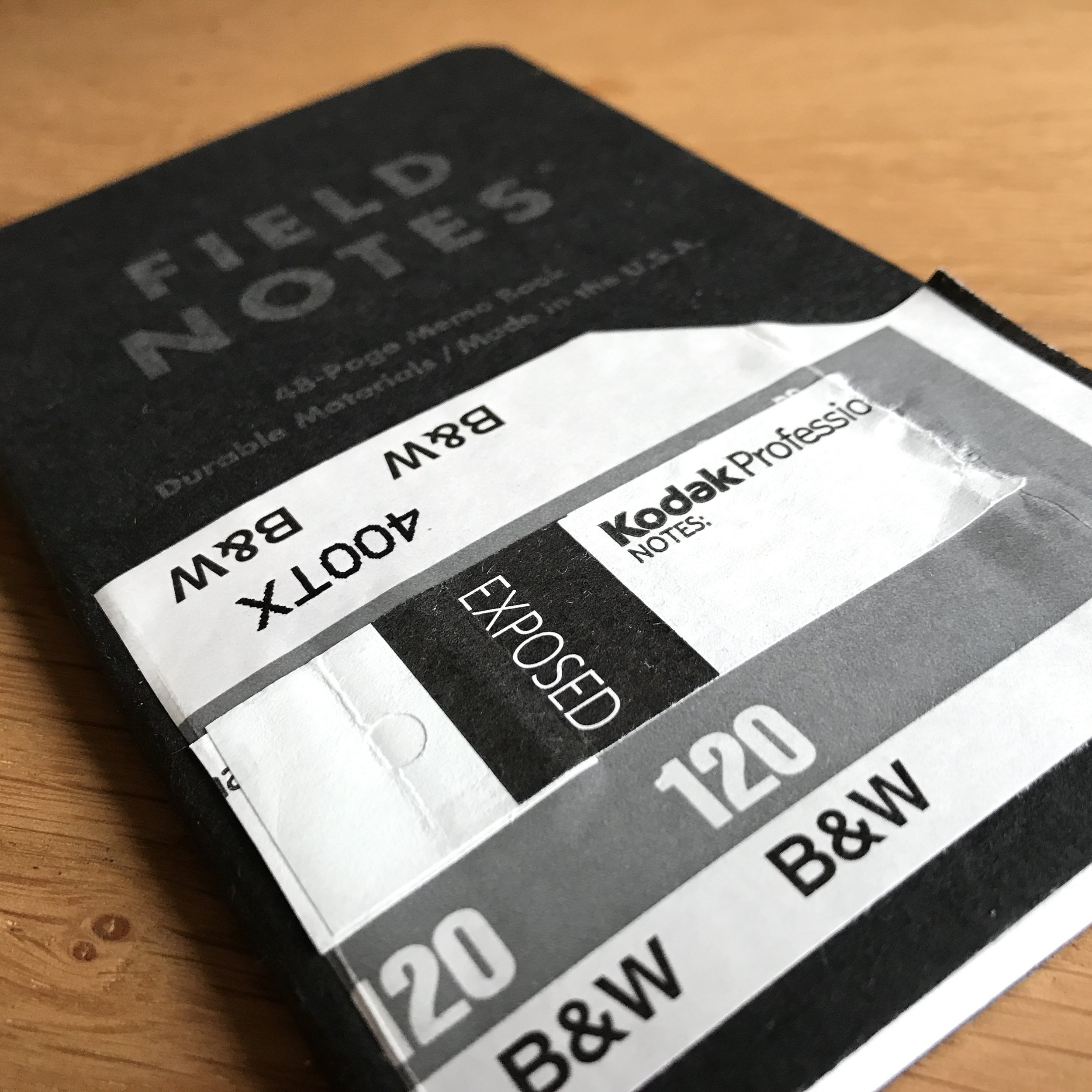 Field Notes for film developing