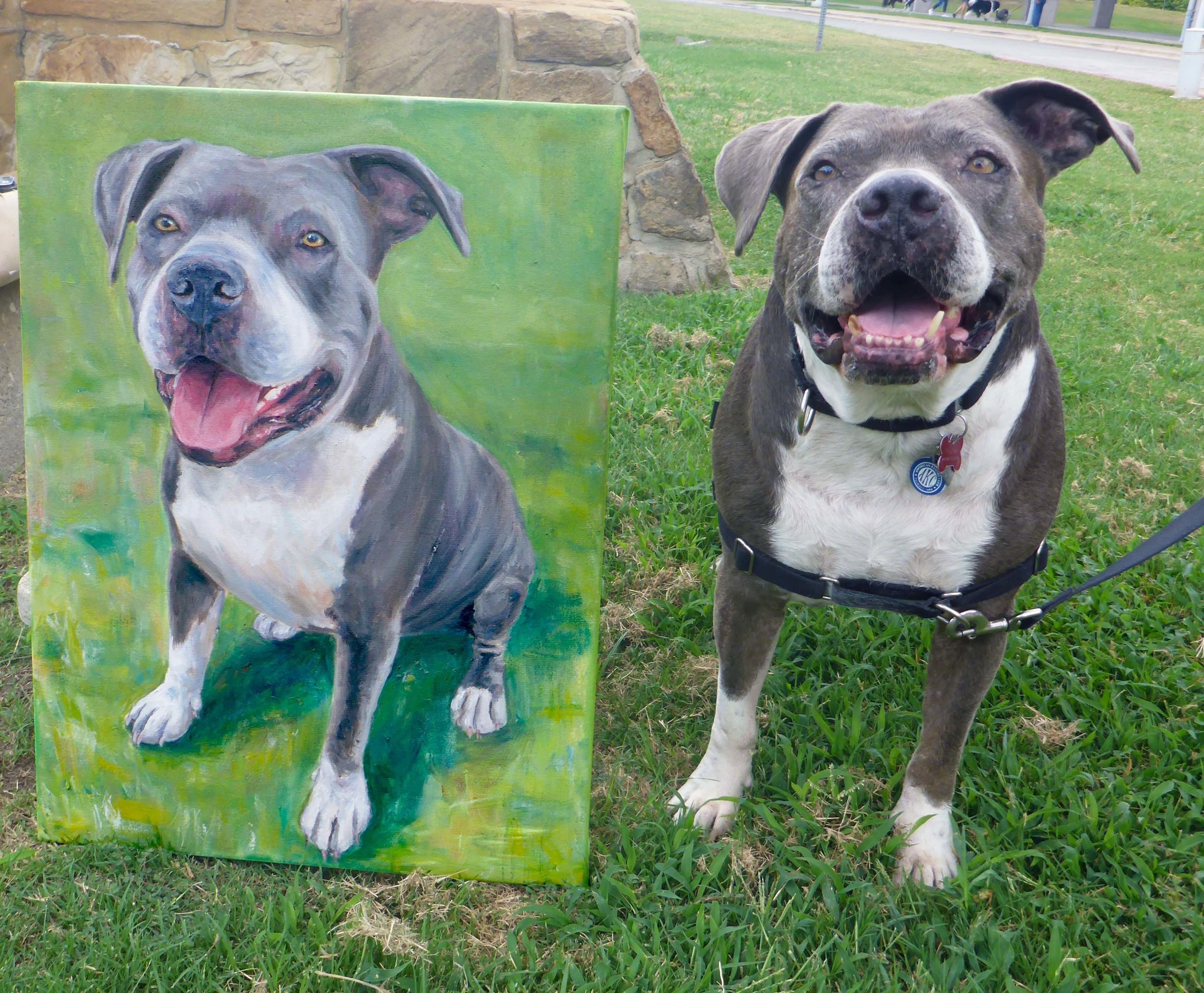 Wilbur with painting.jpg