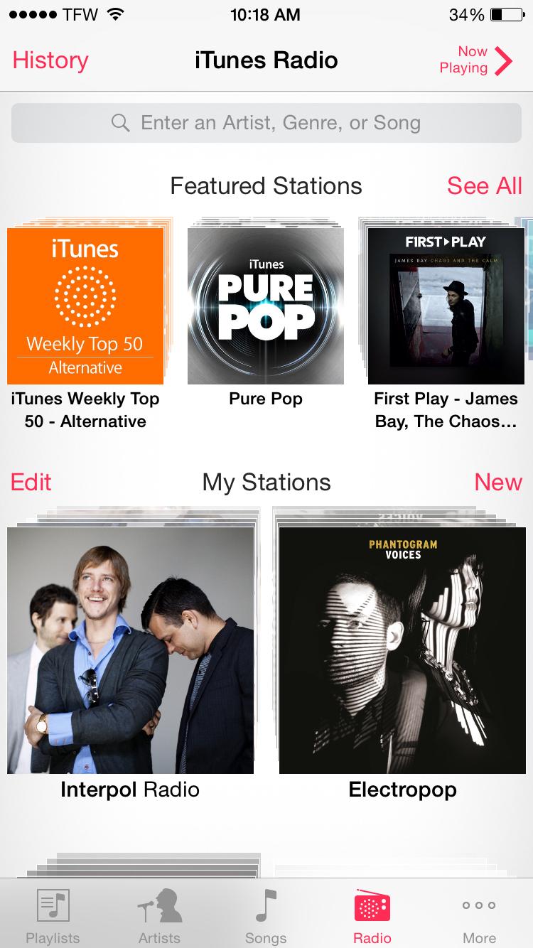 best free music streaming services Pandora vs Spotify vs iTunes Radio