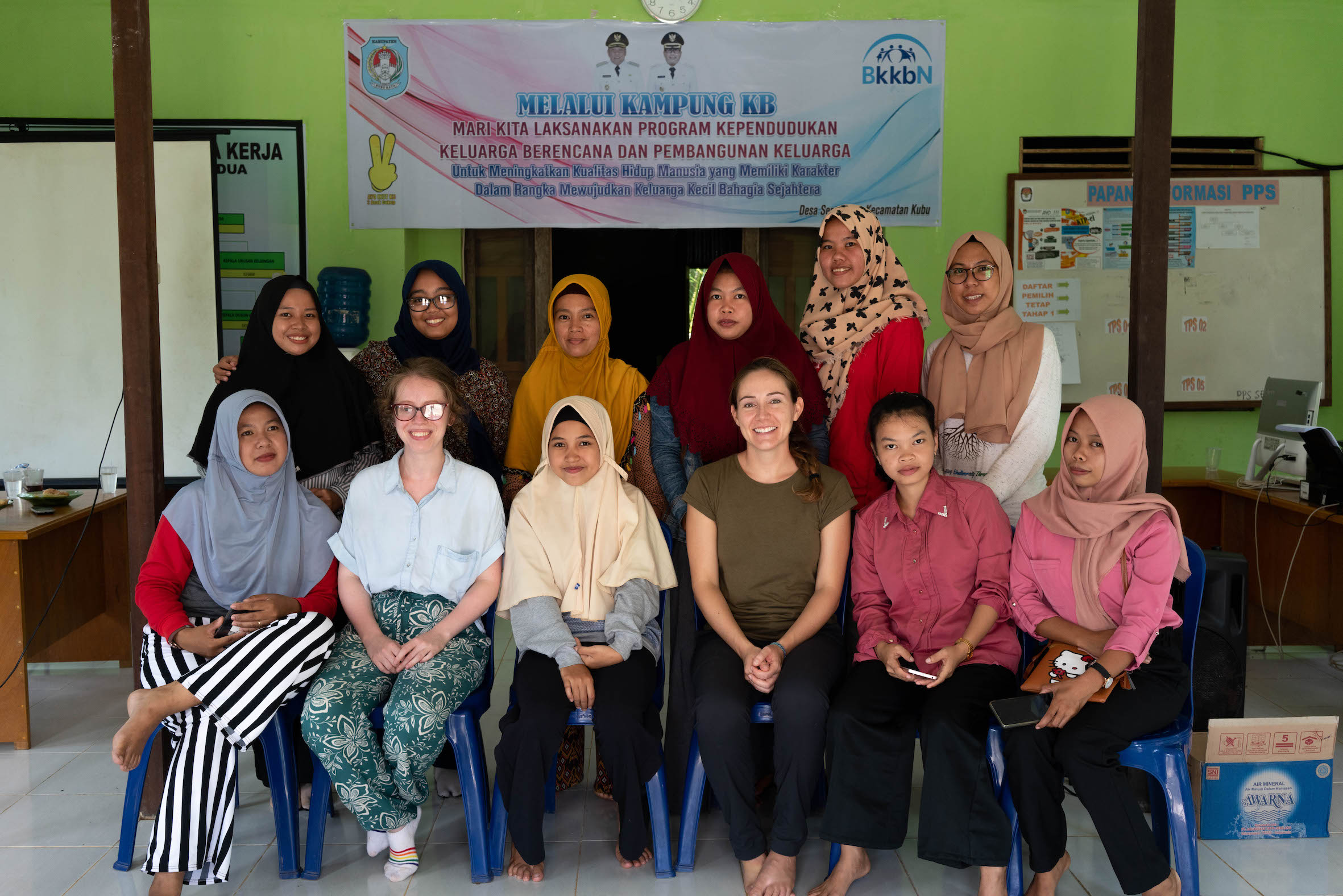 The women focus group conducted on day two of our field trip with Blue Communities