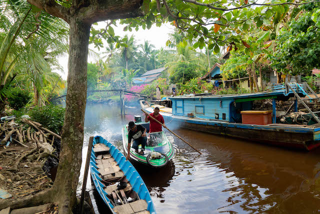 One of our newest villages enrolled, Seruat dua is built mostly on the banks of a single river and have ownership over an incredible mangrove forest