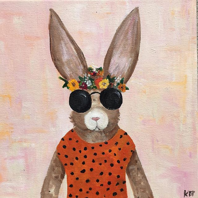I can't take credit for this design because it is based off another painting, but I still wanted to show you guys this adorable bunny. 🐰 She has so much sass and I love it! She found her home all the way in San Francisco and now we're just waiting for sweet Olivia to arrive. 🤗😘🧡 . . . . . #createhappy #creativelifehappylife #prettylittlethings #flashesofdelight #pursuepretty #nothingisordinary #acolorstory #littledetails #acrylicpainting #bunnypainting #nurserydecor #homedecor #babybunny #sassybunny #hiphop #friendsandbabies #flowercrown
