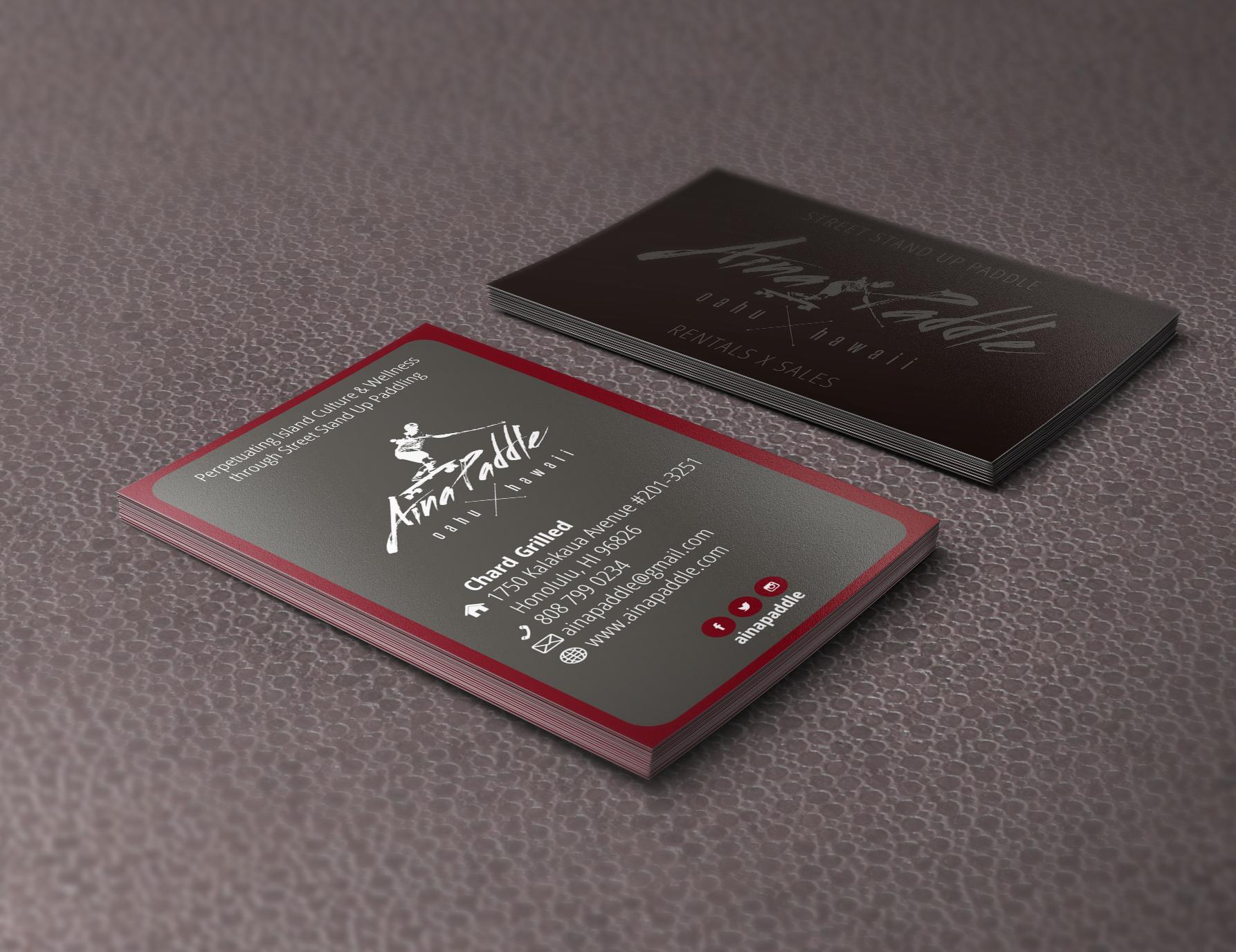 Aina Paddle Business Card