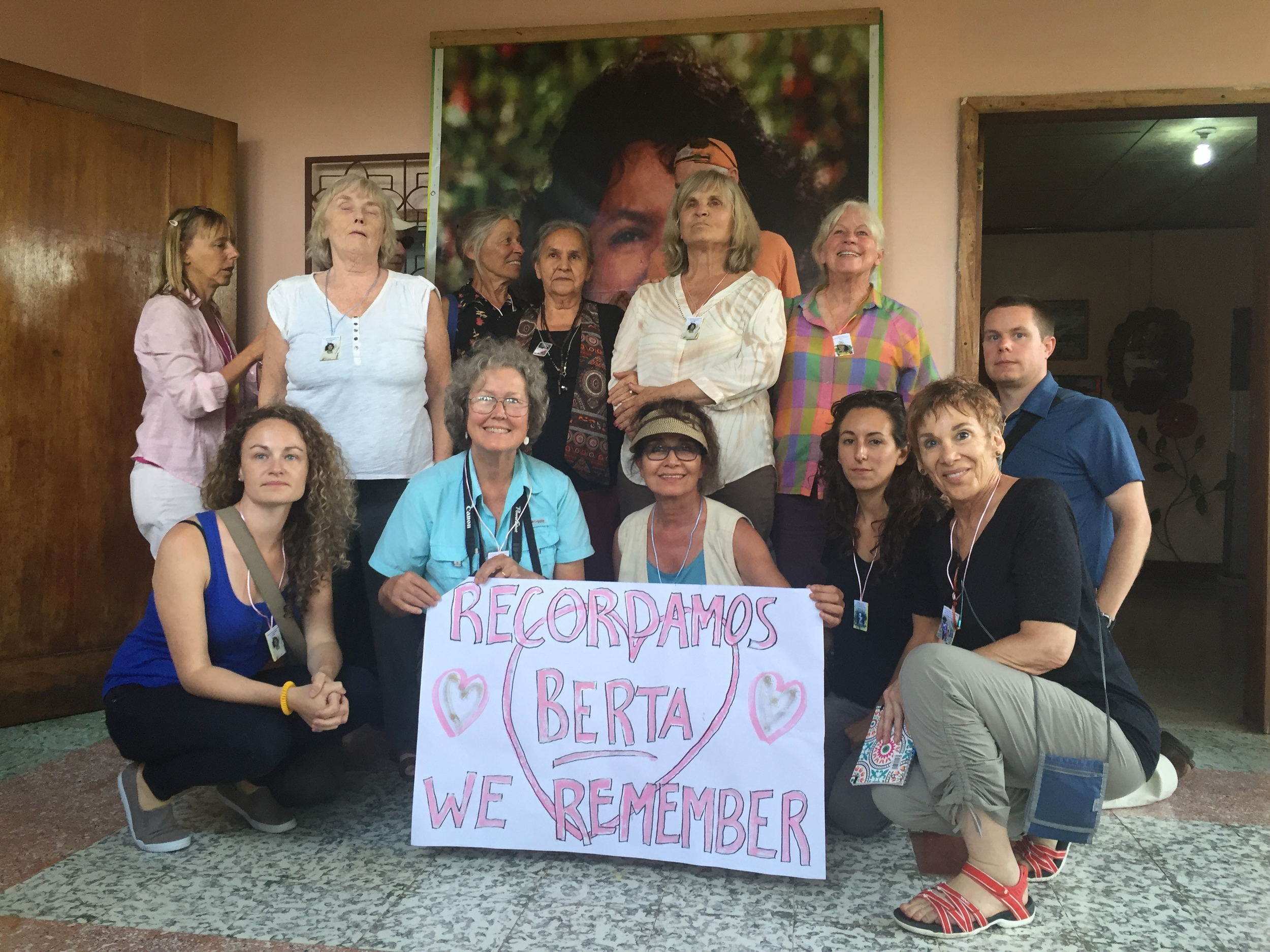 Visiting Berta Caceres' mother, Doña Austra Berta Flores and family at her house in La Esperanza.