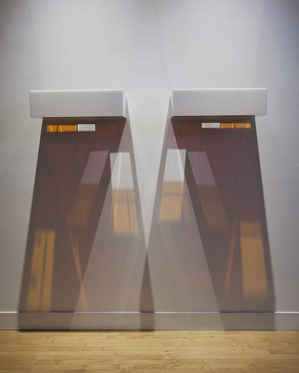 Kiss D3 , 2007 Plexiglas, light |diptych, overall:7.25 x 59 x 17 inches |HG12757