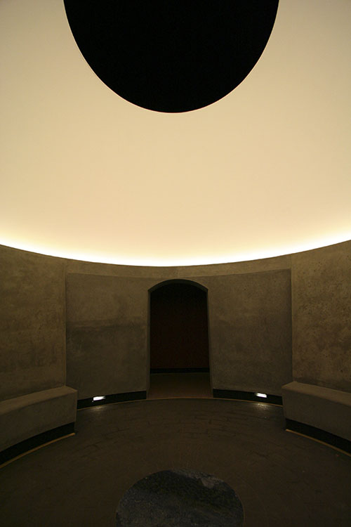 Three Gems  ,2005 (inside view)   Permanent Skyspace Installation |M.H. de Young Museum,San Francisco, CA