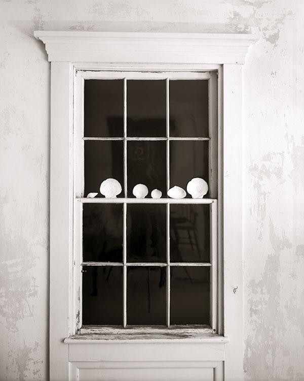 LC.OlsonHouse_ WindowWithShellsAtNight.jpg