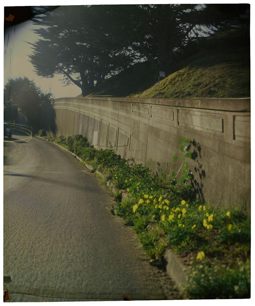 Aloha Avenue at 15th Avenue ,  San Francisco , 2014 Camera Obscura Ilfochrome Photograph, Unique | 34 x 28 inches | HG12260