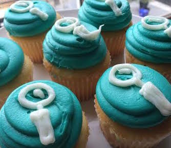 Celebratory cupcakes for a job well done!