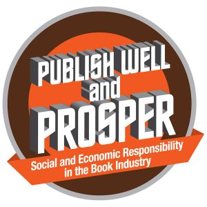 "Book Summit 2017 logo: ""Publish well and prosper: Social and economic responsibility in the book industry."""
