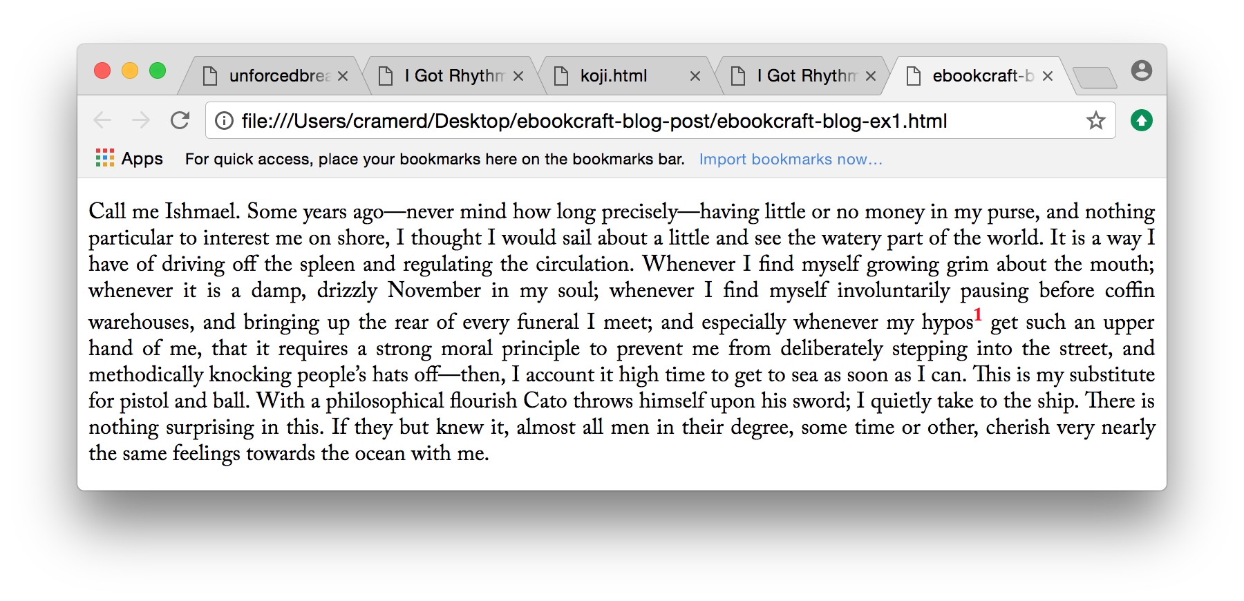 Example 1:paragraph with superscript and inconsistent line height