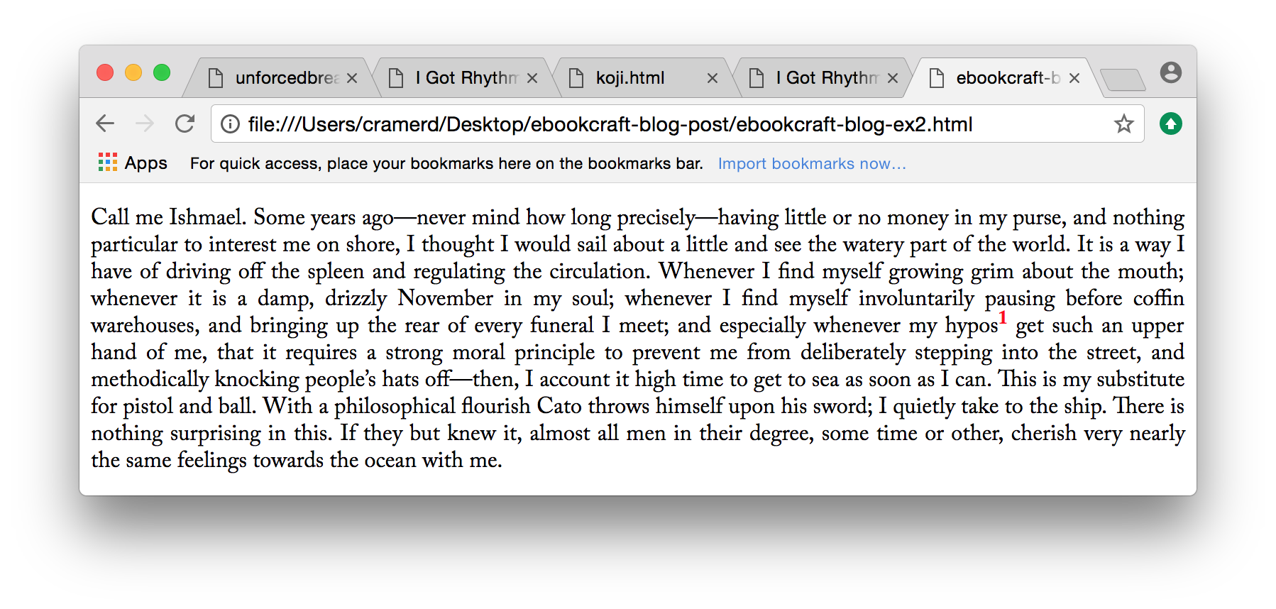 Example 2:paragraph with superscript but consistent line height