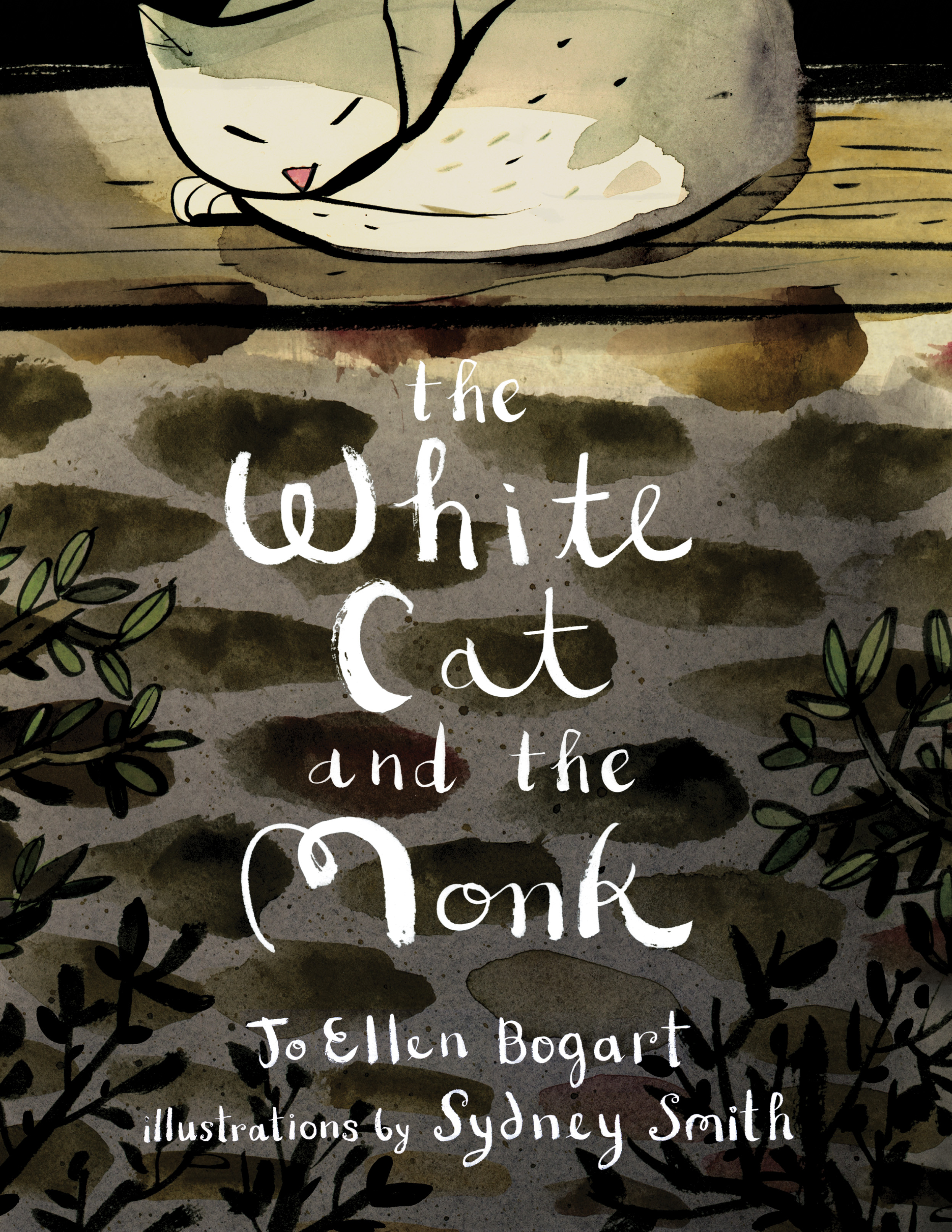 The White Cat and the Monk   by Jo Ellen Bogart, illustrated by Sydney Smith cover image.